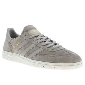 mens adidas light grey spezial trainers