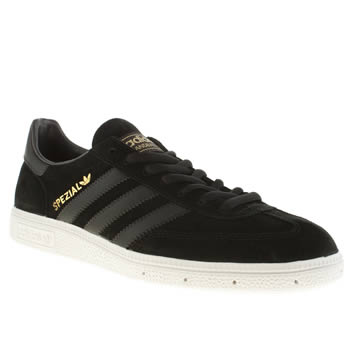 Mens Adidas Black Spezial Trainers