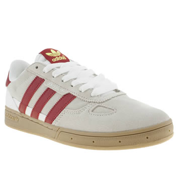 mens adidas white & red ciero trainers