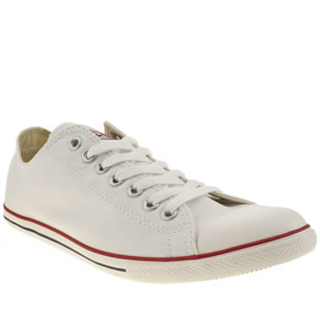 mens converse white slim ox trainers