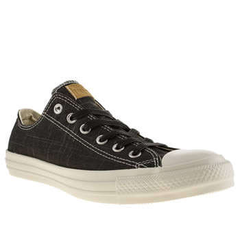 Mens Converse Black & White Slub Yarn Ox Trainers