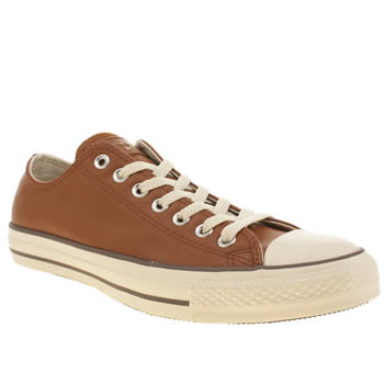 Mens Converse Tan All Star Leather Oxford Trainers