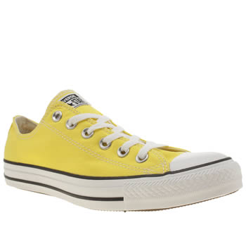 Mens Converse Yellow All Star Lo Trainers