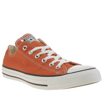 Converse Orange Chuck Taylor All Star Ox Trainers