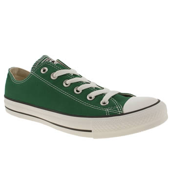 mens converse dark green all star lo trainers