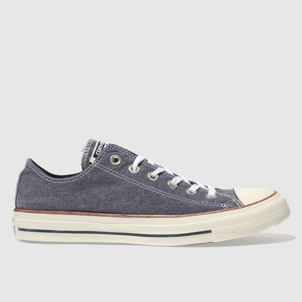 Converse Navy & White All Star Ox Printed Wash Trainers