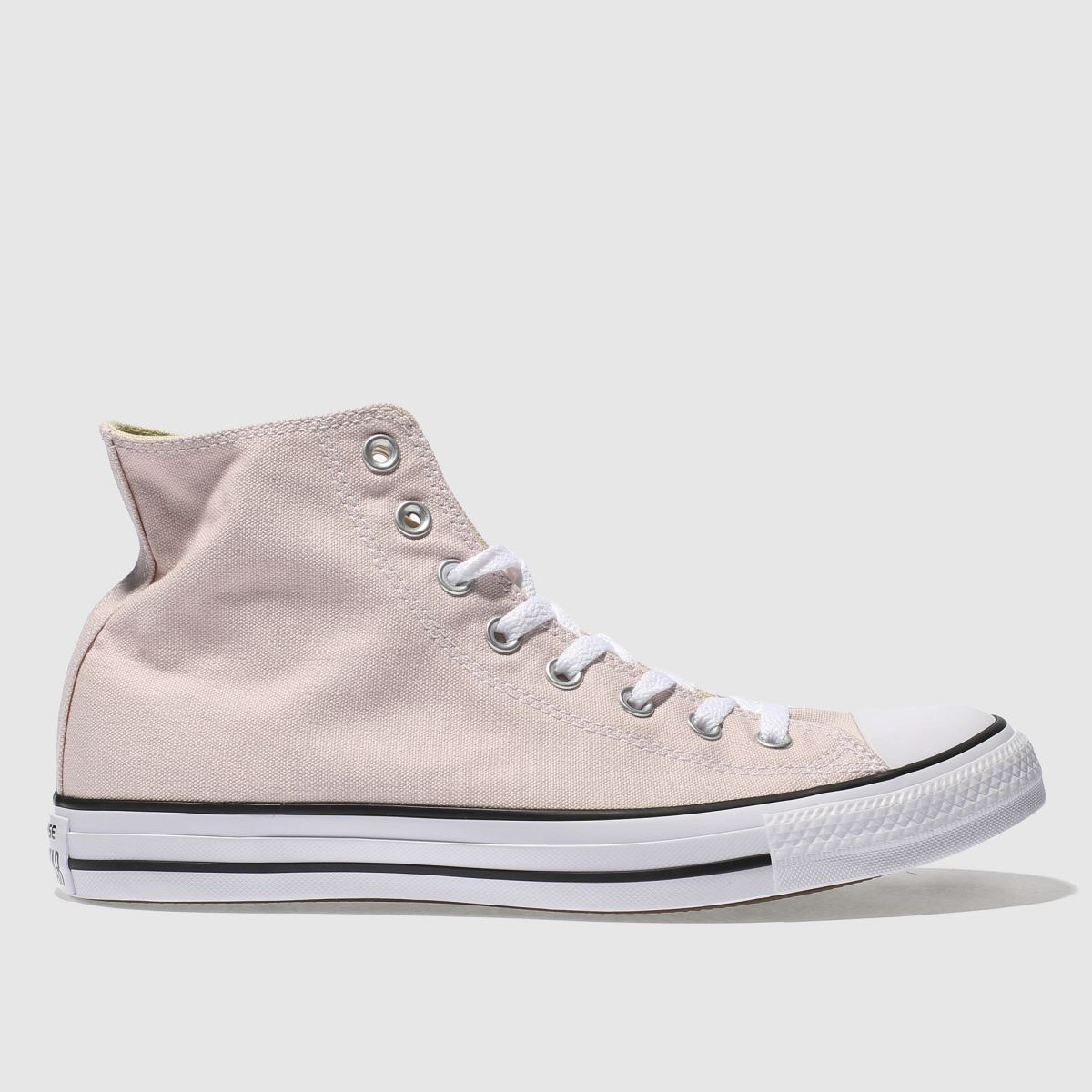 converse pale pink chuck taylor all star hi trainers