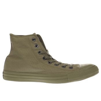 Converse Khaki All Star Hi Trainers