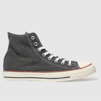Converse Black All Star Hi Printed Wash Mens Trainers