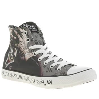 Mens Converse Grey All Star Joker Hi Trainers