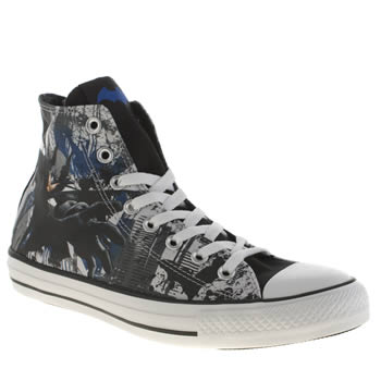 Converse Grey & Black All Star Batman Hi Trainers