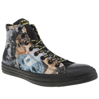 Converse Black & Grey Chuck Taylor All Star Batman Trainers