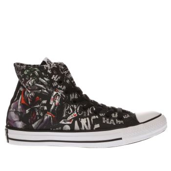 Converse Black & White Chuck Taylor All Star Joker Hi Trainers
