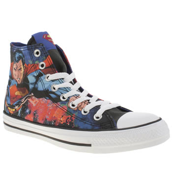 Converse Black & Red Chuck Taylor Superman Hi Trainers