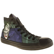 Converse Black & Green Chuck Taylor All Star Joker Hi Mens Trainers