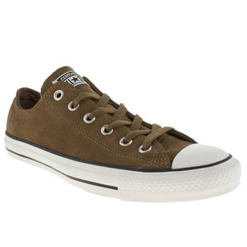 Converse Khaki All Star Ox Suede Trainers