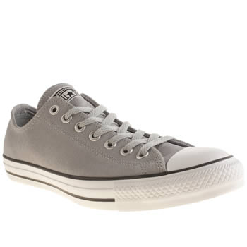Mens Converse Light Grey All Star Oxford Suede Trainers