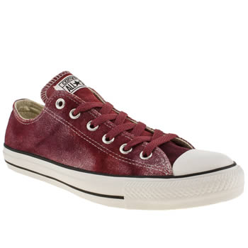 Converse Red Tie Dye Ox Trainers