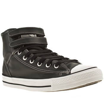 mens converse black & white as 2 strap hi trainers