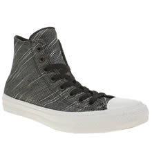 Converse Black & White Chuck Taylor Ii Knit Hi Mens Trainers