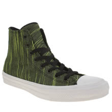 Converse Black & Green Chuck Taylor Ii Knit Hi Mens Trainers