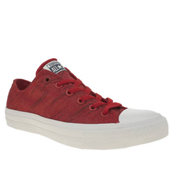 Converse Red Chuck Taylor Ii Knit Ox Mens Trainers