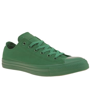 Converse Green All Star Monochrome Ox Trainers