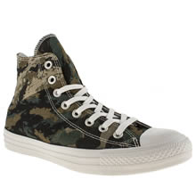 Khaki Converse All Star Camo Tri-panel Hi
