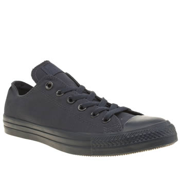 Mens Converse Navy All Star Monochrome Ox Trainers
