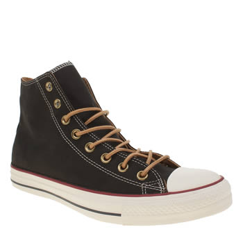 Converse Black All Star Peach Canvas Hi Trainers