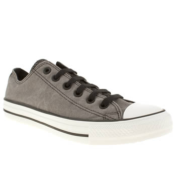 mens converse dark grey all star vintage ox trainers