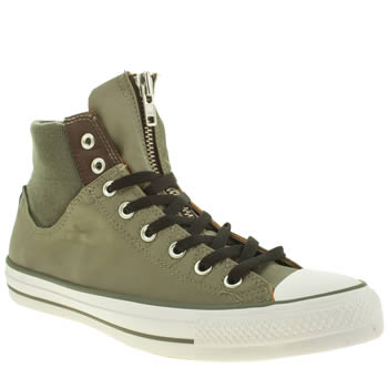 Converse Khaki Chuck Taylor Hi Military Trainers