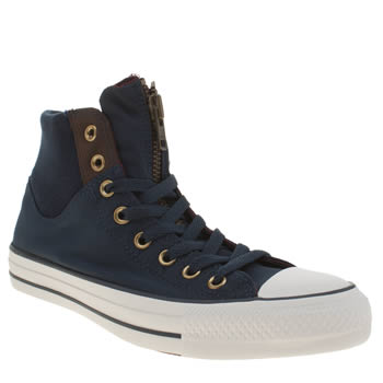 Converse Navy Chuck Taylor Hi Military Trainers