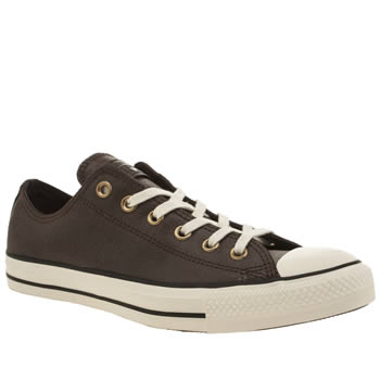 Mens Converse Brown All Star Ox Vintage Leather Trainers