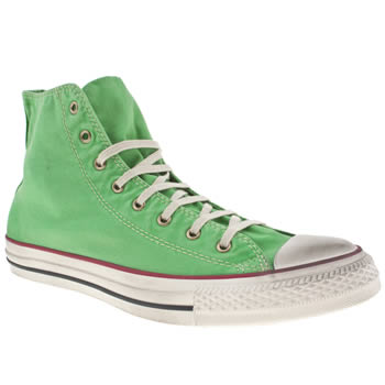 mens converse green all star washed well worn trainers