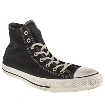 Mens Converse Black & White Well Worn Hi Trainers