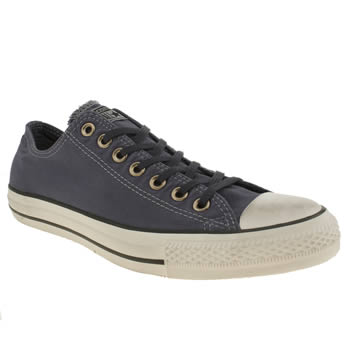 Mens Converse Navy & White Well Worn Ox Trainers