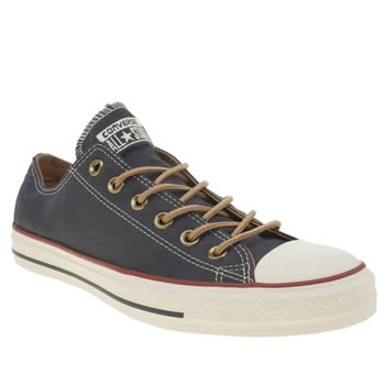 Converse Navy All Star Peached Canvas Ox Trainers