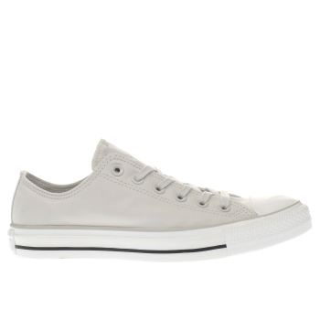 CONVERSE LIGHT GREY ALL STAR PEACH CANVAS OX TRAINERS