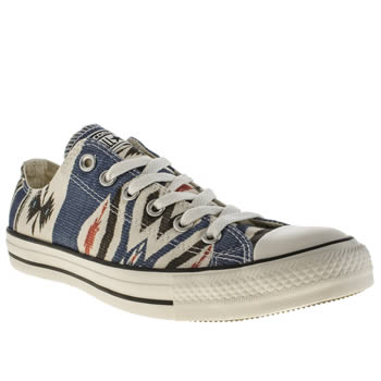 Converse White & Blue Chuck Taylor All Star Blanket Trainers