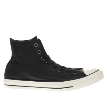 Converse Black All Star Hi Leather Trainers