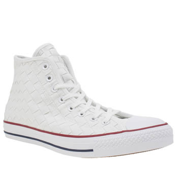 Converse White All Star Woven Canvas Hi Trainers
