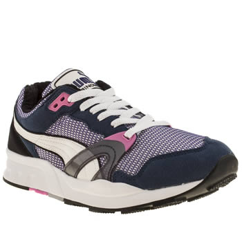 mens puma navy & white trinomic xt 1 trainers