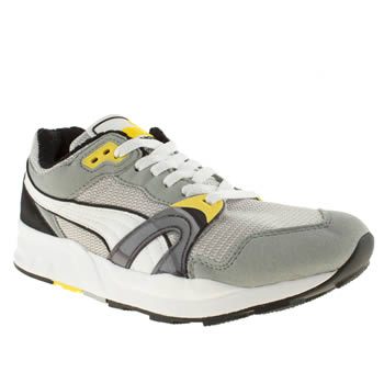 Mens Puma Light Grey Trinomic Xt 1 Trainers
