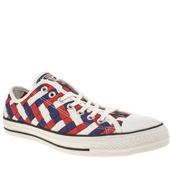 CONVERSE MULTI ALL STAR WOVEN CANVAS OX TRAINERS