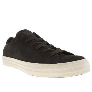 Converse Black Burnished Suede Oxford Trainers