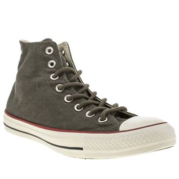 Mens Converse Grey All Star Basic Wash Trainers