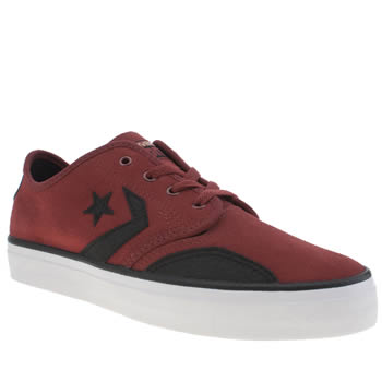 Converse Burgundy Zakim Peppered Suede Trainers