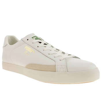 Mens Puma White Tennis Match Vulc Trainers