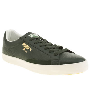 mens puma dark green match vulc trainers